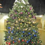 The central tree decorated by the Sealy Area Historical Society
