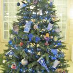 Tree designed by Blinn College students.  All ornaments were hand made.