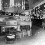 Interior of the dry goods side of the Hackbarth mercantile store that was built in the early 1900s on the northwest corner of Main and Front Streets.